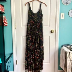 Rachel Zoe Tiered Flowy Floral Chiffon Maxi Dress